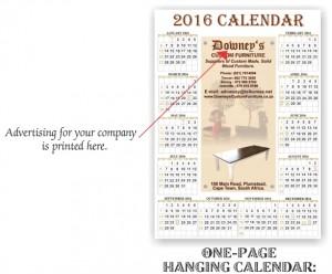 1 page calendar