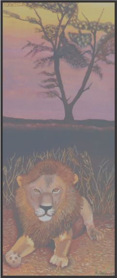 No. 9. Male Lion in African Sunset